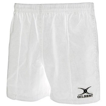 White Rugby Shorts - Gilbert Kiwi Pro Rugby Short (White)-Medium