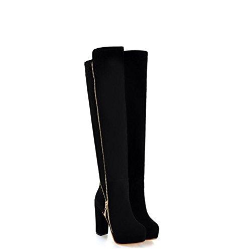 Ei&iLI Bottes printemps femmes / hiver Fashion bottes en similicuir extérieur / occasionnel , black , 36