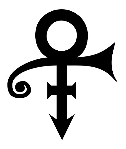 THE ARTIST FORMERLY KNOWN AS PRINCE ROCK BAND LOGO STICKER SYMBOL 5.5' DECORATIVE DIE CUT DECAL Rock n Roll - WHITE