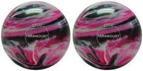 EPCO-Duckpin-Bowling-Ball-2-Marbleized-Magenta-Black-White-Balls