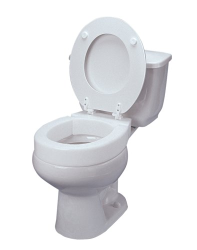 Ableware Hinged Elevated Toilet Seat, Elongated by Maddak Inc. (Image #2)