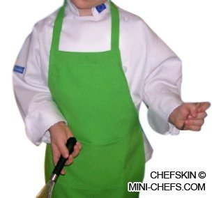 Chefskin Lime Green Apron Kids Children Fits 2-7 Yr Olds 15x21 Inches Real (Best And Worst Costumes)