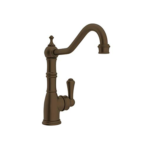 (Rohl U.4741EB-2 PERRIN & ROWE SINGLE HOLE SINGLE LEVER AQUITAINE KITCHEN FAUCET IN ENGLISH BRONZE WITH 9^ REACH COLUMN SPOUT P&R 1L 1H AQUITAINE 9^ E.BZ)