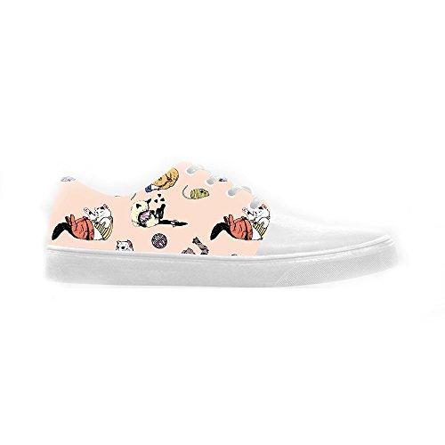 Custom Cartoon Katze Womens Canvas shoes Schuhe Footwear Sneakers shoes Schuhe A