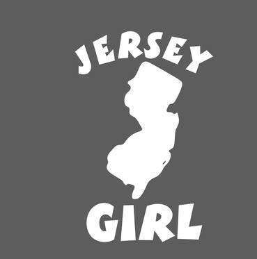 Jersey Girl New Jersey NJ State Decal Sticker for Car, Truck SUV ()