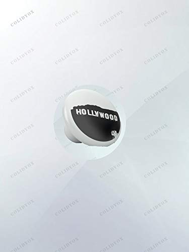 COLIDOX>>>Black White Hollywood Ceramic Knobs You can Express Your Creativity by infusing Elements of Style and Retro Theme into Any of Your existing Kitchen cabinets, wardrobes, and/or Dressers.