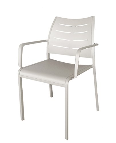 ATC Catalina Powder-Coated Aluminum Arm Chair, Silk Grey (Pack of (Catalina Arm Chair)