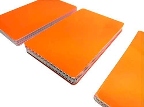 Premium Plastikkarten | PVC Karten Orange | 5-500 Stück | blanko, Kartendrucker, NEU! (50)