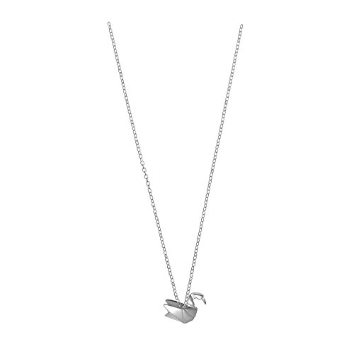 Boma Jewelry Sterling Silver Origami Crane Necklace, 16 inches