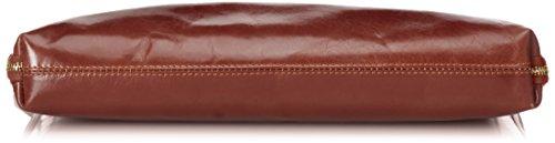 serviette Fabriqué Marron 38x28x7cm 100 sac CTM femmes travail de véritable cuir de de Italie en Marrone wPqaIS