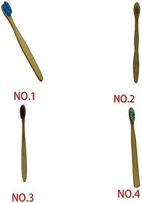 Zerama Cepillos de Dientes desechable bamb/ú Mango del Cepillo de Dientes de Nylon cerdas del Cepillo para el Home Hotel