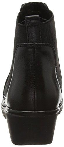 Negro para Leather Black Zinnia Botines Mujer Lotus Blk wqIU1BW