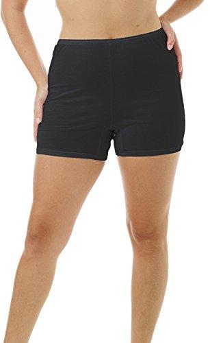 - Underworks Womens 100% Cotton Cuff Leg 5-inch Inseam Bloomers Black 3-Pack x-Large 41-42 Hips