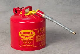 EAGLE Type II Safety Can - 12-1/2'' Dia.x13-3/4''H - 5-Gallon Capacity by Eagle Products