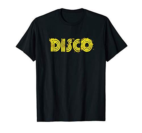 Disco 1970s Style Flashy Light T-Shirt Vintage Disco Retro T ()