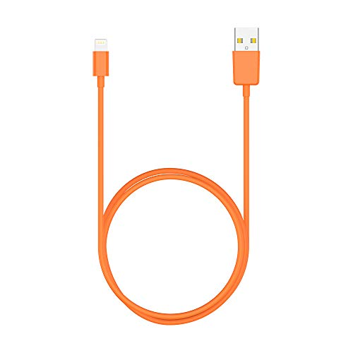 Lightning Cable(3ft), Pukey Lightning to USB A Cable Certified Fast apple charging cable charger cords Compatible with iPhone X/XS/XSmax/XR/8/7/7Plus/6/6s/6Plus/5/5s/5c,iPod iPad Pro and More (Orange)