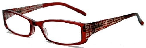 In Style Eyes Super Strength II High Magnification Reading Glasses burgundy 4.50