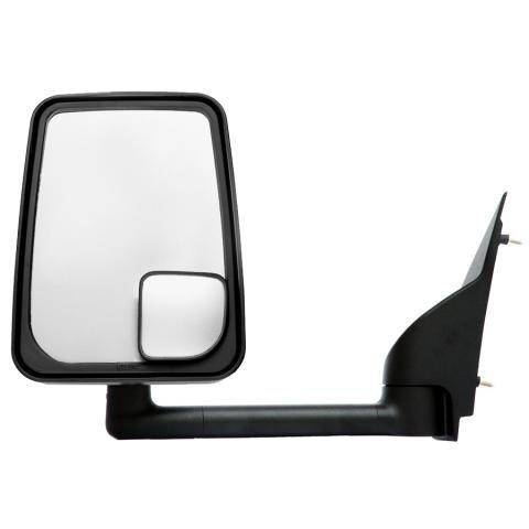 Velvac 715403 RV Mirror Ford Econoline , 9.5 inch Arm, Black - Driver Side, Standard Head