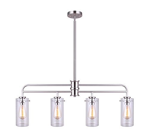 (Canram IPL679A04BN Albany 4 Light Pendant with Brushed Nickel)