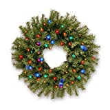Norwood Fir Wreath with Multicolor LED Lights