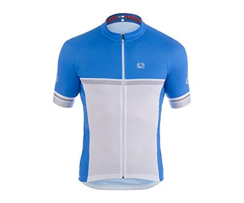 Giordana 2015 Men's Silvererline Short Sleeve Cycling Jersey, Raglan Blue/White/Silver, X-Large