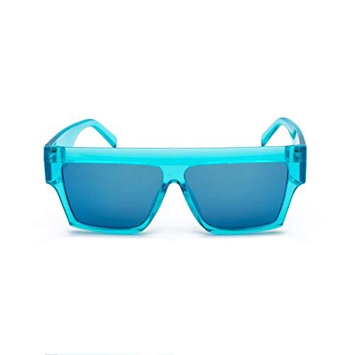 Verres Femme Polarisées,oversize De Lunettes Protection Pour Imjono Rétro Cadre Lens Uv Miroir Mode Soleil Bleu Plats wxICWtw5qP