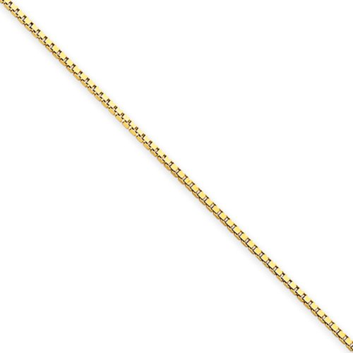 Children's 1mm 14k Yellow Gold, Box Chain Necklace, 14 Inch by The Black Bow