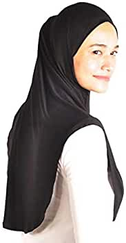 MAXI COTTON JERSEY 1 piece Al Amira Muslim Hijab Scarf Chest/&Head Cover Scarf
