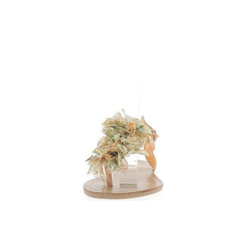 de la con planas flor Chanclas dedo de naranjas de decoración entre tela 0SA0xqTaw
