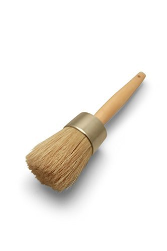 Furniture Wax Brush/Chalk Paint Brush - 100% Natural Bristles,Rust Resistant Ferrule, Ergonomic handle,Lightweight and extremely durable