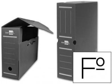 Liderpapel - Caja archivo definitivo plastico gris tamaño 36x26x10 cm (5 unidades)