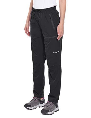 BALEAF Women's Cargo Hiking Pants Lightweight Capris Water Resistant UPF 50+ Shorts Black Size M