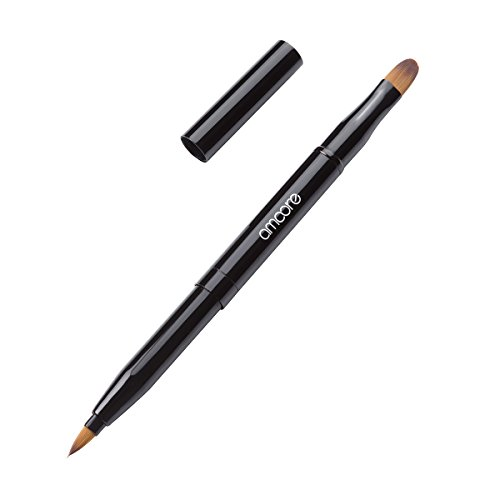 amoore Eyeshadow Brush Retractable Concealer Brush Dual End Lip Brush (1 Pcs, Black)