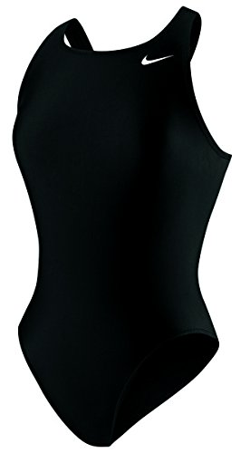 Nike Swim NESS5021 Womens Poly Core Solid Fast Back Tank, Black-30