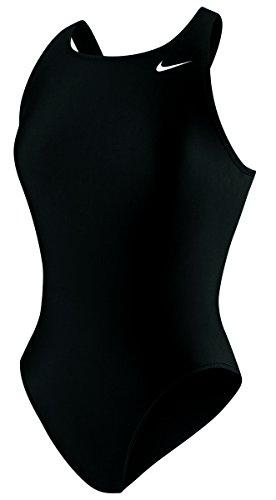 Nike Swim NESS5021 Womens Poly Core Solid Fast Back Tank, Black-38 - Nike Poly Core