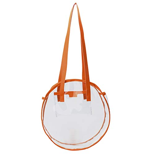 DDKK bags New Novelty Round Clear Messenger Bag For Events/Transparent Purse For Stadiums/Clear Bag For Men And Women