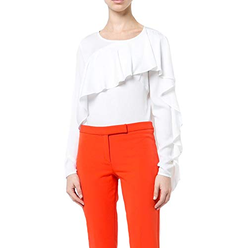MILLY Womens Cascade Sleeve Blouse White 4