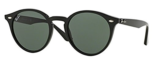 Ray-Ban Highstreet RB 2180 Sunglasses Black / Grey Green 49mm & HDO Cleaning Carekit - 2180 Rb