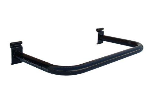 U-Shape Black Gridwall Hangrails - Round Tubing - Use With Grid Panels - 3 Pcs