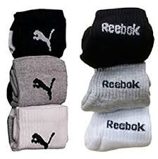 Reebok Unisex Solid Ankle Length Socks (Pack of 6)