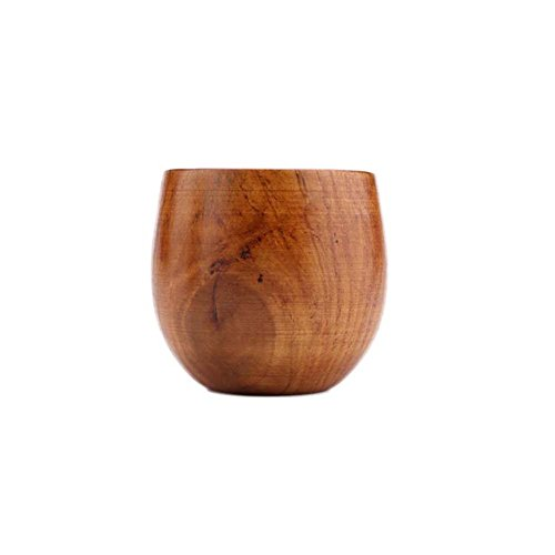 XHWine 3pcs Hand-made Natural Wooden Sake Cup (6x5.5cm) by XHWine (Image #1)