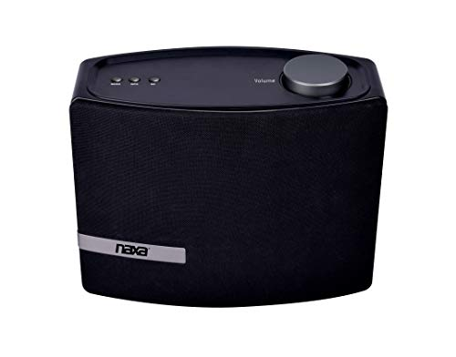 NAXA Electronics NAS-5001 Wi-Fi & Bluetooth Multi-Room Speaker with Amazon Alexa Voice Control Compatible with iPhone & Android Devices Black