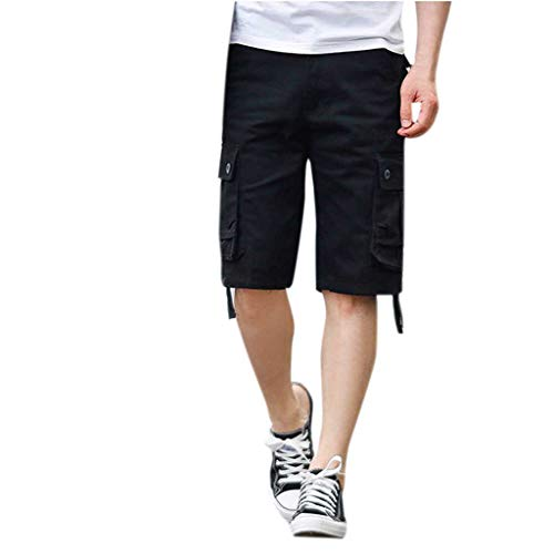 De Multi Bermudas lin Short Sports Noir Soldes poche Surfing longueur Natation Maillot Et Pantacourt Bain Shorts Pantalon Demi Travail Salopette Day Hommes 0dIw7I