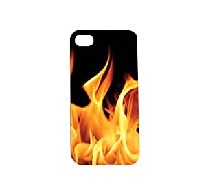 Flame Fire Plastic Snap on Case Cover Compatible with Apple iPhone 4 and 4s by icecream design