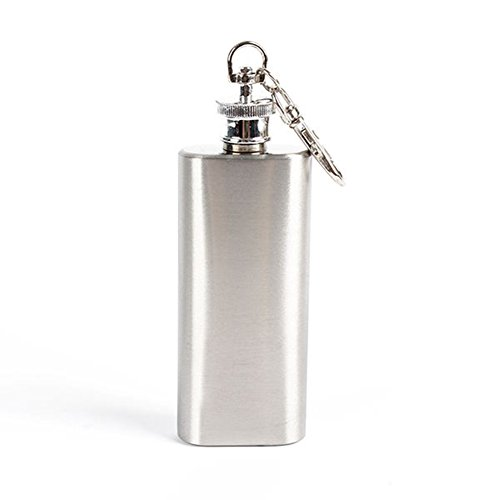 bjduck99 2oz Mini Wine Bottle Stainless Steel Liquor Hip Flask with Screw Cap Portable