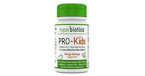 Hyperbiotics Pro-Kids Tangy Orange, 60 Time-Release Micro-Pearls