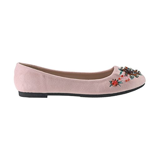 femme Fashion4Young pour Multicolor Pink Ballerines 36 TaEwqZxB
