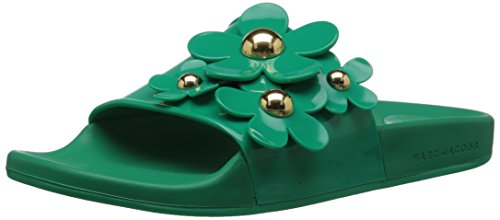 (Marc Jacobs Women's Daisy Aqua Slide Sandal, Emerald, 37 M EU (7 US))