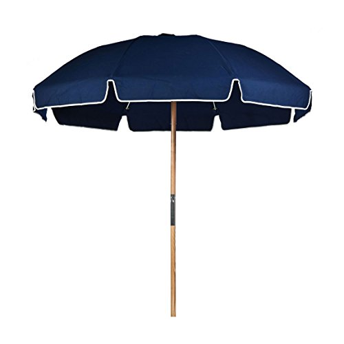 (7.5 ft. Fiberglass Commercial Grade Beach Umbrella with Ashwood Pole/Olefin Fabric/Carry)