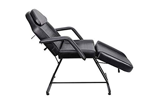 Professional Massage Table Bed Chair PU Leather Cover Black Color for Salon Facial Massage Therapy Treatment Use